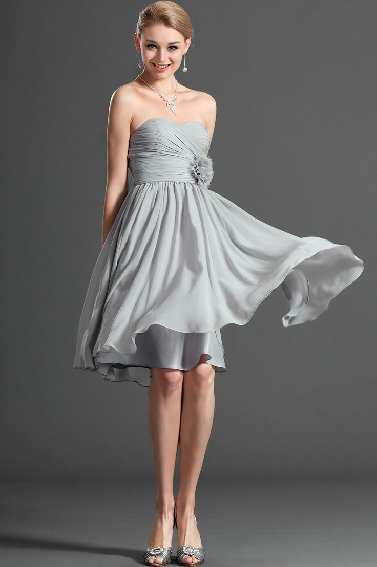25 best petite cocktail dress images on pinterest homecoming silver strapless cocktail dress ombrellifo Choice Image