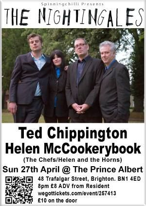 Nightingales, Ted Chippington & Helen McCookerybook 27/4/14 at The Prince Albert, Brighton