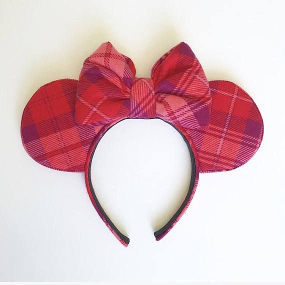 Pink And Red Flannel Mouse Ears Valentines Day Love Headband Extra Soft With Bow PRODUCT DETAILS -Extra soft pink and red plaid flannel fabric for ears -Extra soft pink and red plaid flannel bow -1 inch headband INCLUDES -1 pair of Pink And Red Plaid Extra Soft Flannel Mouse Ears