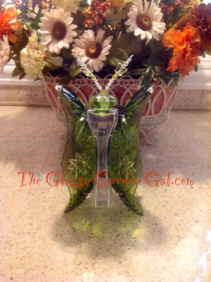 Very Rare Hard To Find Dishes To Make This Butterfly. Glass Butterfly, Glass  Garden