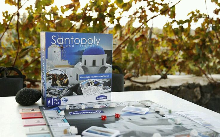 Enjoying Santorini wines and playing santopoly! Share lots of fun moments with the best real-estate board game that will travel you to this unique greek island!