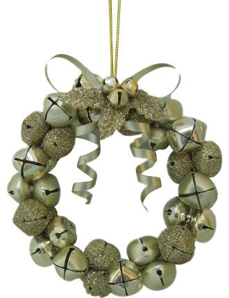 Jingle Bell Wreath Gold