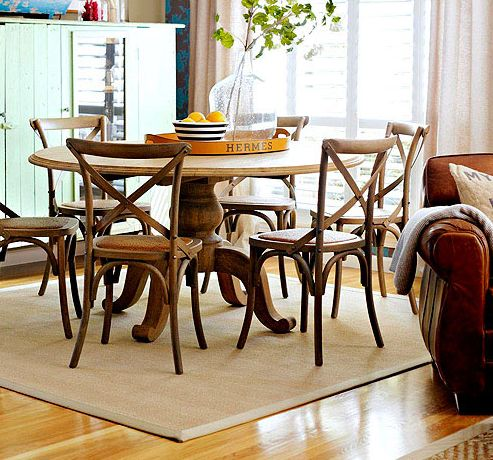Dining room with X back chairs