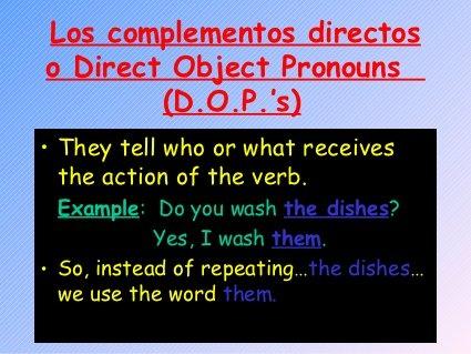 DO and IO pronouns, slideshow