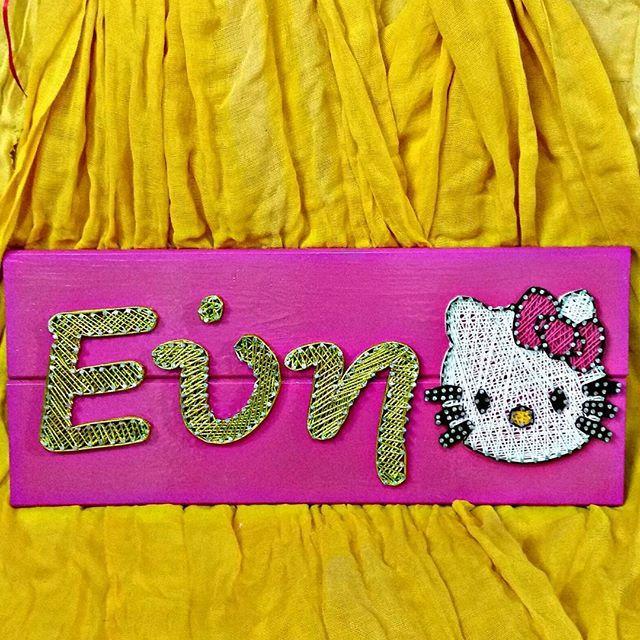 #stringart#handmade#wood#nails#hellokitty#greek#name#instaart#art#instalike#etsy#greece#girl#instagirl#baby#pink#gold#pinterest
