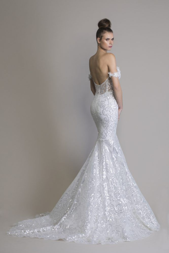 Off The Shoulder Sequin Mermaid Wedding Dress Wedding Dresses