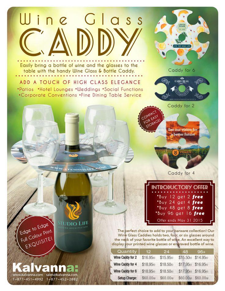 Wine Glass Caddy- http://www.creatchmanpromo.ca/
