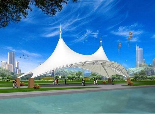 White Tensile Canopy contact Airsculpt for our Project info@airsculpt.com