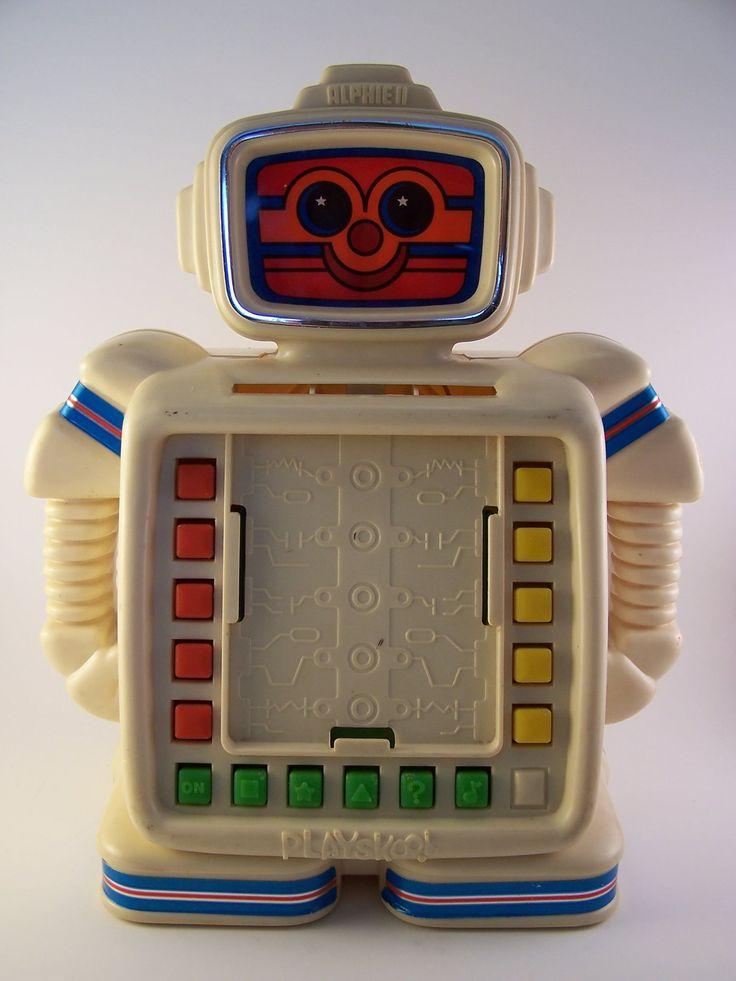 vintage alphie II robot toy 80s. $9.00, via Etsy.