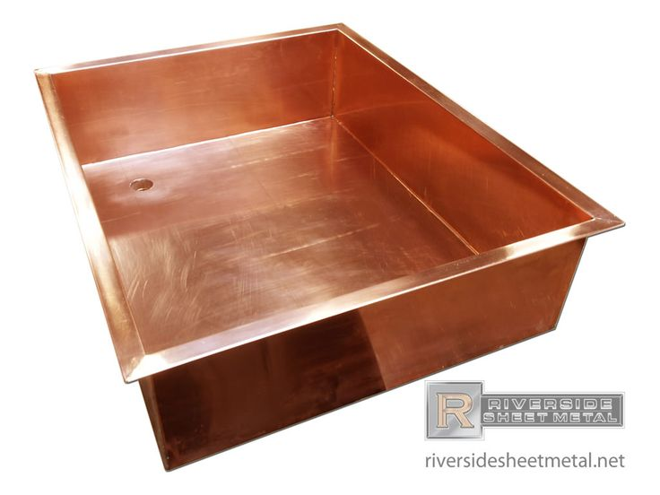 Simple Custom Made Copper Sink. Riverside Sheet Metal Specializes In The  Fabrication Of Copper Counter Tops And Backsplashes.