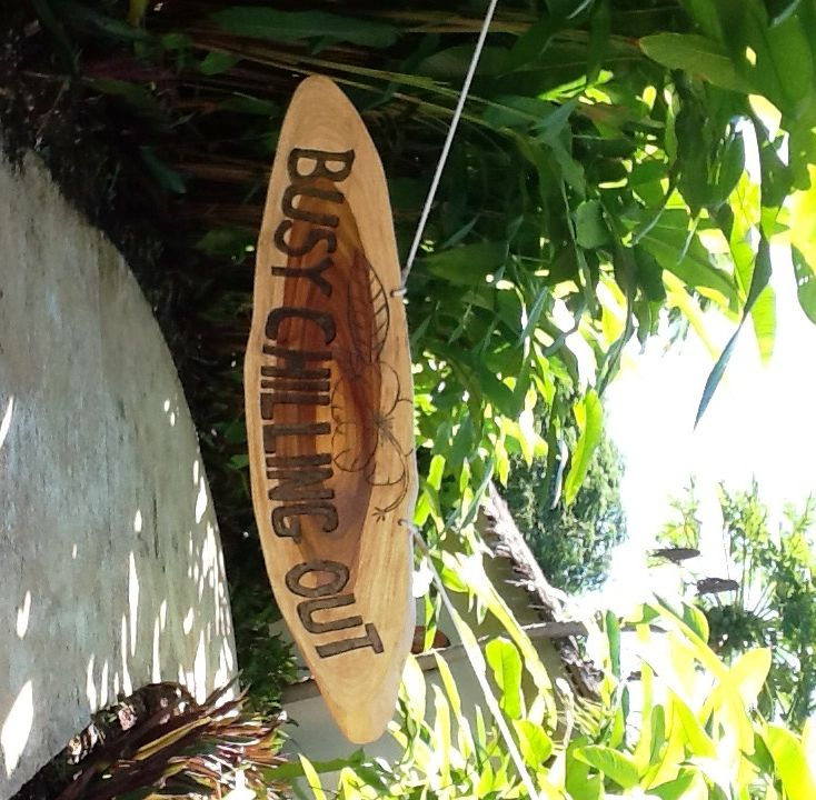 Just chilling.... one of the Do Not Disturb signs at The Havannah, Vanuatu :)