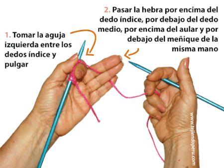 182 best images about tejidos a dos agujas on pinterest - Como hacer punto de lana para principiantes ...
