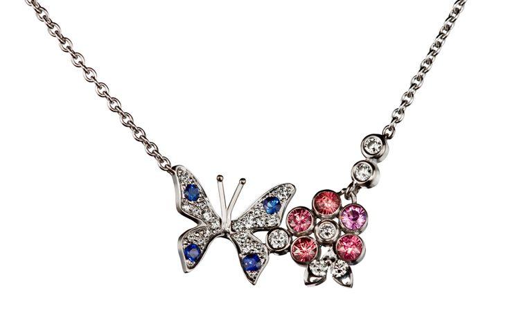 Oy Tillander Ab #Unique #butterfly #necklace #diamond #safir http://www.tillander.fi/