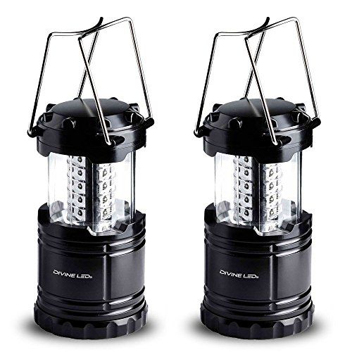 Vont Bright 2 Pack Portable Outdoor LED Camping Lantern, Black, Collapsible. For product info go to:  https://all4hiking.com/products/vont-bright-2-pack-portable-outdoor-led-camping-lantern-black-collapsible/