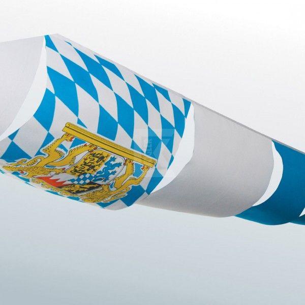 Partyhimmel: Zelt-Deko, hellblau-weiße Rauten, 5 Meter Oktoberfest Deko Wimpel & Fahnen. Der Fetenman macht Deine Party bunt - party-deko-shop.de