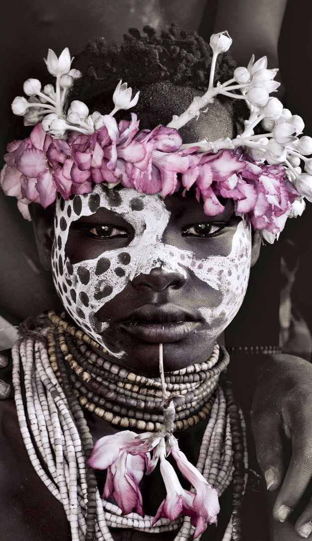 Karo tribe girl - Omo Valley, Ethiopia