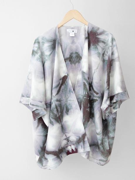 Upstate Noil Kimono Jacket - Earth Itajime