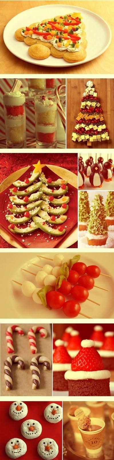 Christmas themed food
