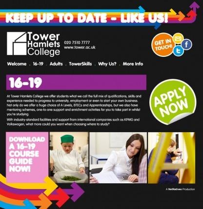 Tower Hamlets College Facebook Website