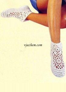 Вязаные женские туфли