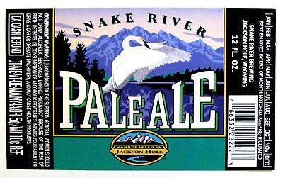 Snake-River-PALE-ALE-beer-label-WY-12oz-with-Swan