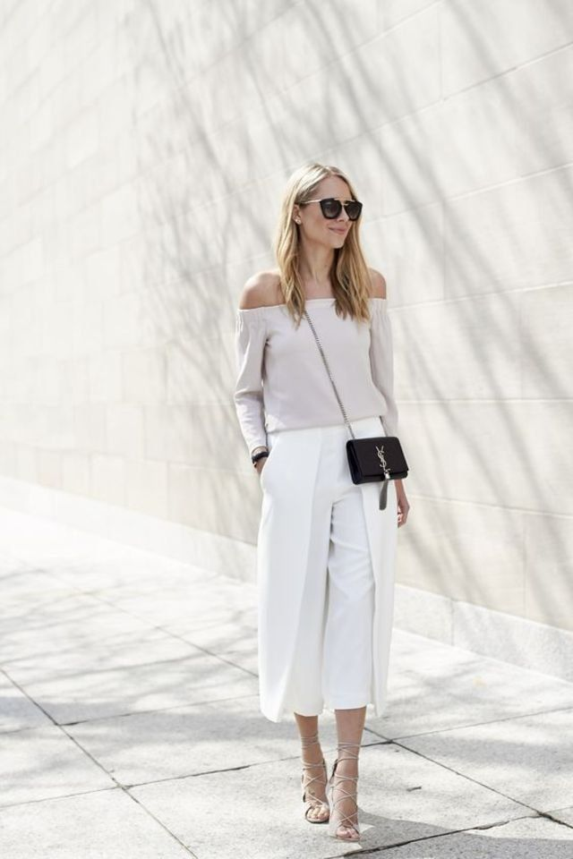 21 Photos to Show You Why Culotte Pants Are as Chic as Ever – #Chic #Culotte #pa…