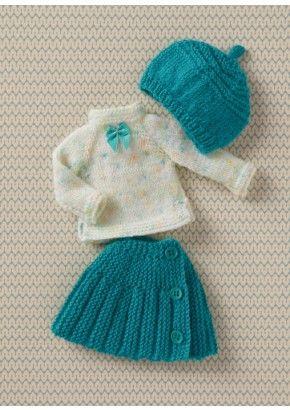 Vêtements de poupées au tricot