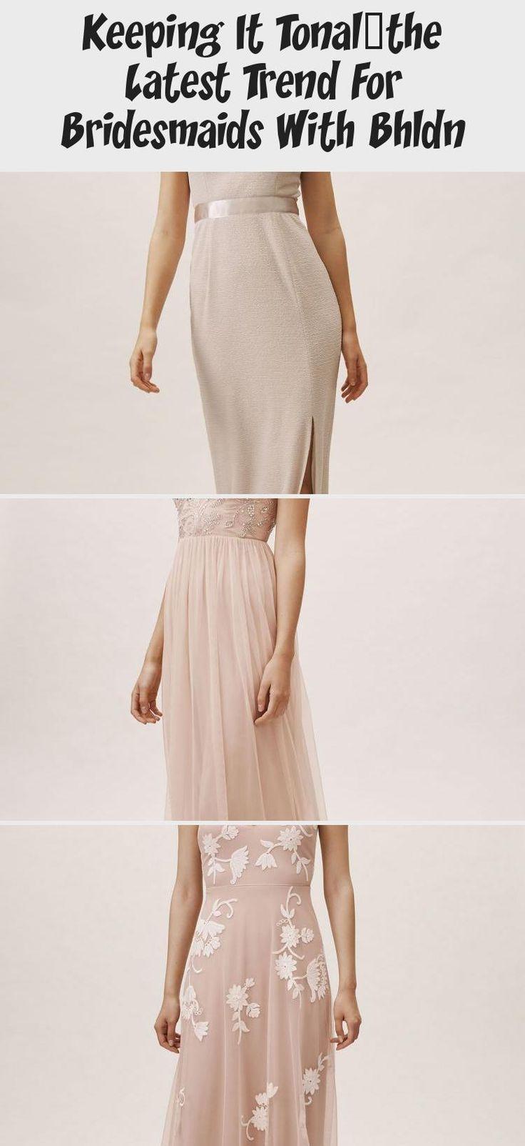 BHLDN Bridesmaid Dress for Spring 2019 Blush Pink Hues
