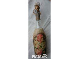 Obiecte de arta, Vanzari, cumparari, Sticla decorativa Rose vintage ptr. mese festive, nunta, bar, imaginea 1 din 1