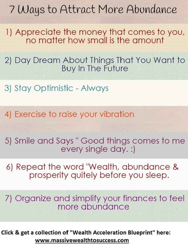 """7 Ways to Attract More Abundance into your Life: Grab the [FULL COLLECTION] of """"Wealth Acceleration Blueprint"""" here @ www.massivewealthtosuccess.com"""