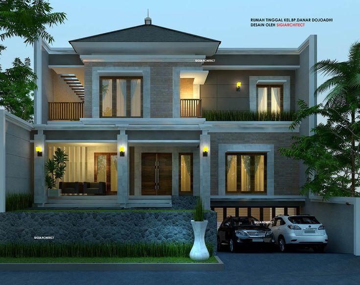 Desain Rumah Bali Modern Semi basement, dibangun di Bintaro Jaya Tangerang selatan, rumah tinggal 2 lantai plus Type 500 M2 diatas lahan berukuran 15 X 23 M.
