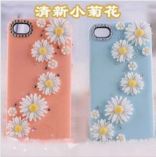 4 sets of 4 daisies 16 total 8 colors resin diy bling phone deco etc | chriszcoolstuff - Craft Supplies on ArtFire http://www.artfire.com/ext/shop/product_view/6275364