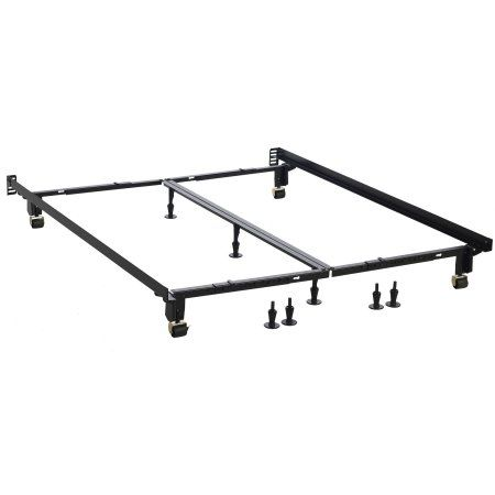 Hollywood Extra Heavy Duty, Mega Multi-Fit Bed Frame, Adjustable to All Sizes with No Tools needed, Brown