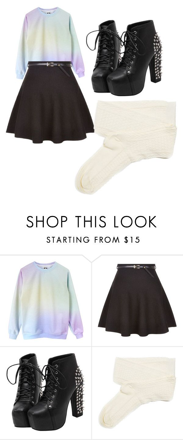 """""""Pastel goth"""" by stone-leblanc ❤ liked on Polyvore featuring New Look and Fevrie"""
