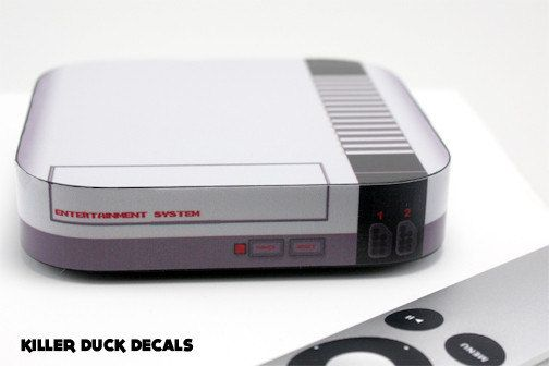 NES Console AppleTV by killerduckdecals on Etsy, $10.00