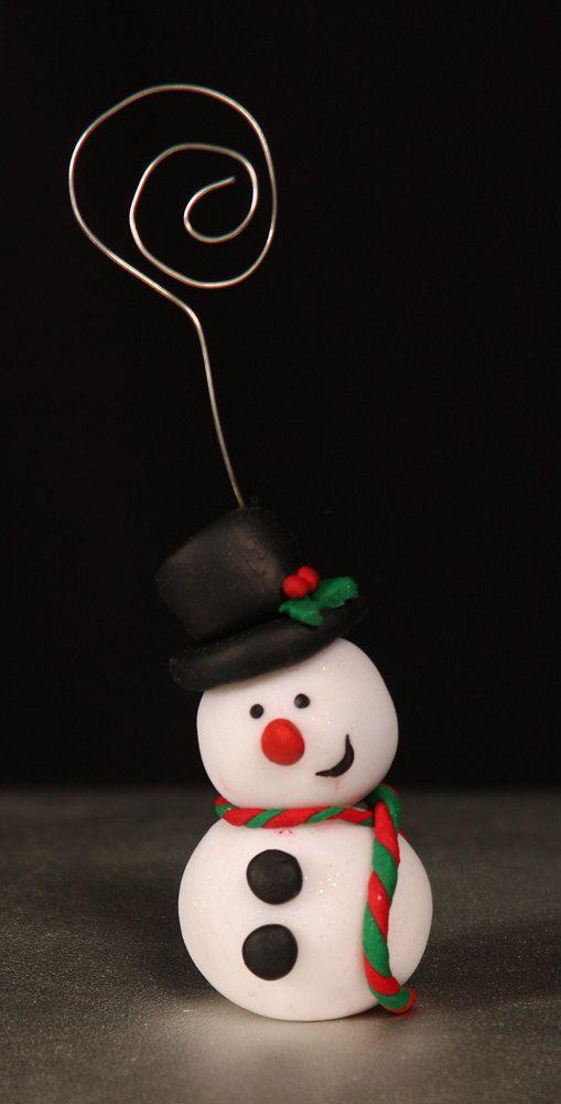 Handmade Fimo Christmas Place Card Holders by NicolaRoseCrafts