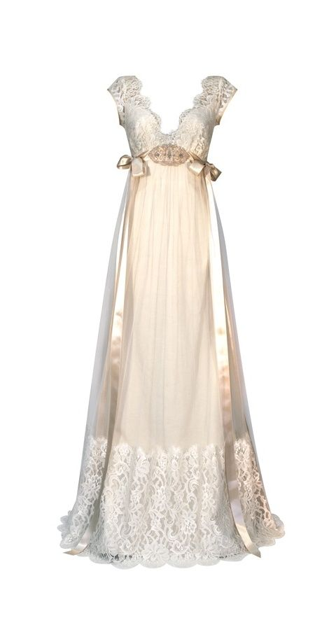 Queen Anne's Lace Wedding Dress (Front) – Claire Pettibone Continuing 2011 Collection