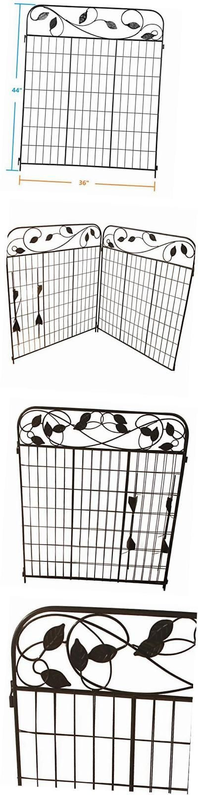Trellises 43538: 36 W By 44 H X 2 Wrought Iron Folding Garden Fence Panels - Furnishing Fence -> BUY IT NOW ONLY: $66.71 on eBay!