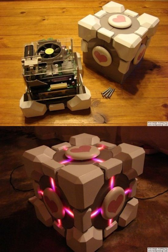 Weighted Companion Cube Computer. I'd much rather a Mac Mini inside rather than a PeeCee.