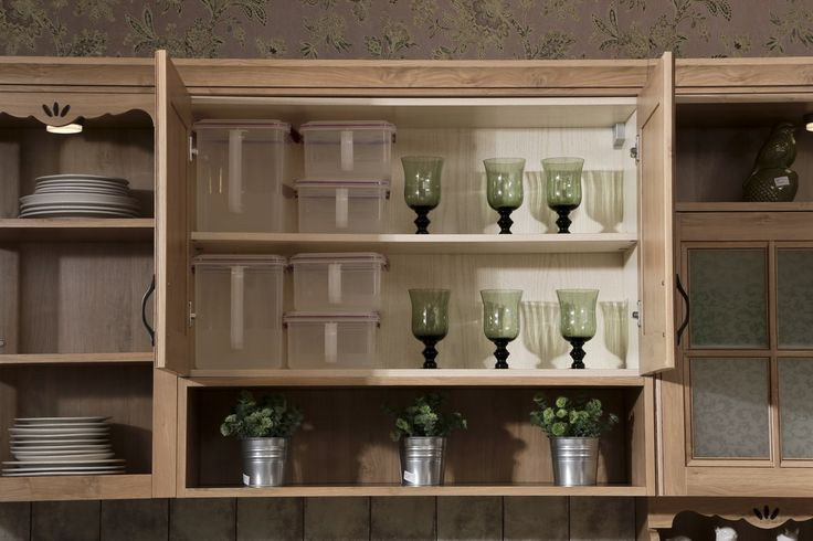 Wine cabinet oppein line type kitchen cabinet with pp finish model
