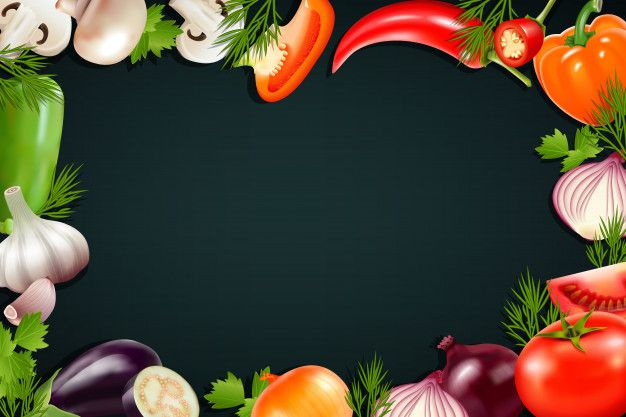 Download Black Background With Colorful Frame Containing Realistic Vegetables Icons So As Pepper Eggplant Tom For Free Colorful Frames Colorful Vegetables Vegetable Illustration