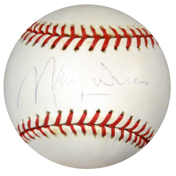 Maury Wills Autographed Official MLB Baseball Los Angeles Dodgers PSA/DNA #Y88216