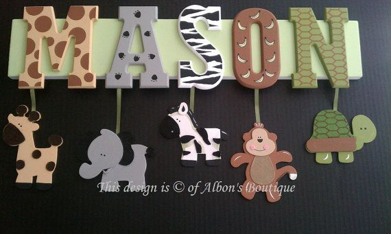 9 letter custom name sign! see more at www.facebook.com/albonsboutique =)