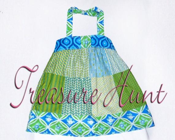 Blue Sun Dress 4  5 Treasure Hunt sale by AvanellandCarrieBell, $10.00