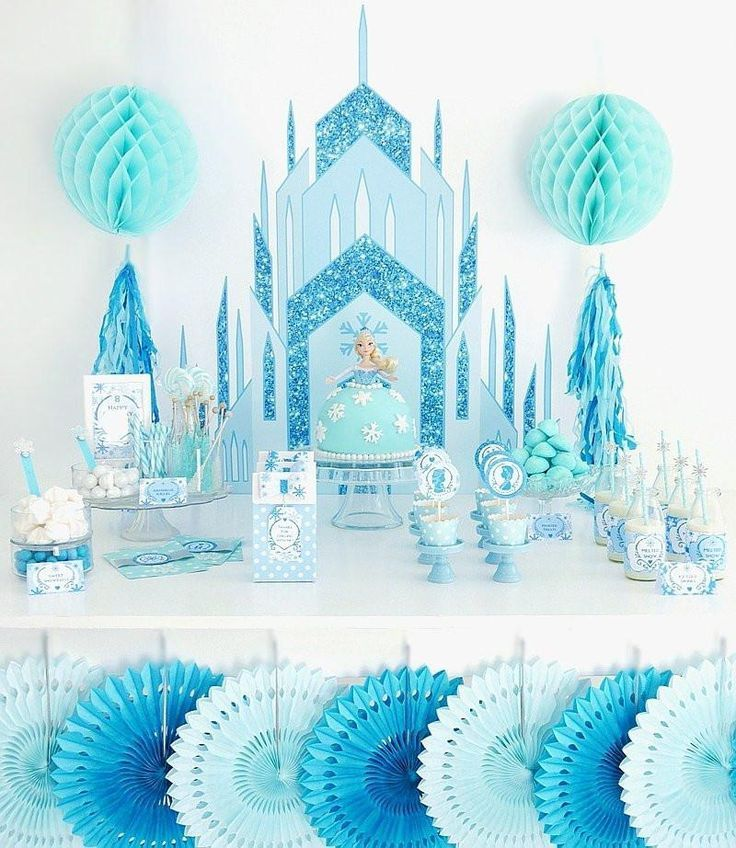 Ice Princess Birthday Party Printables Supplies & Decorations