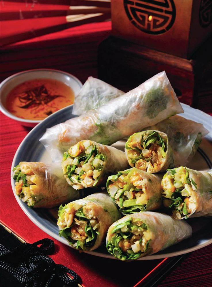 Tofu and roasted rice spring rolls by Tracey Lister & Andreas Pohl from Real Vietnamese Cooking | Cooked