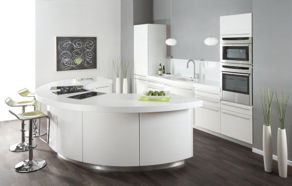 16 Divine Modern Kitchen Designs With Curved Kitchen Island                                                                                                                                                                                 More