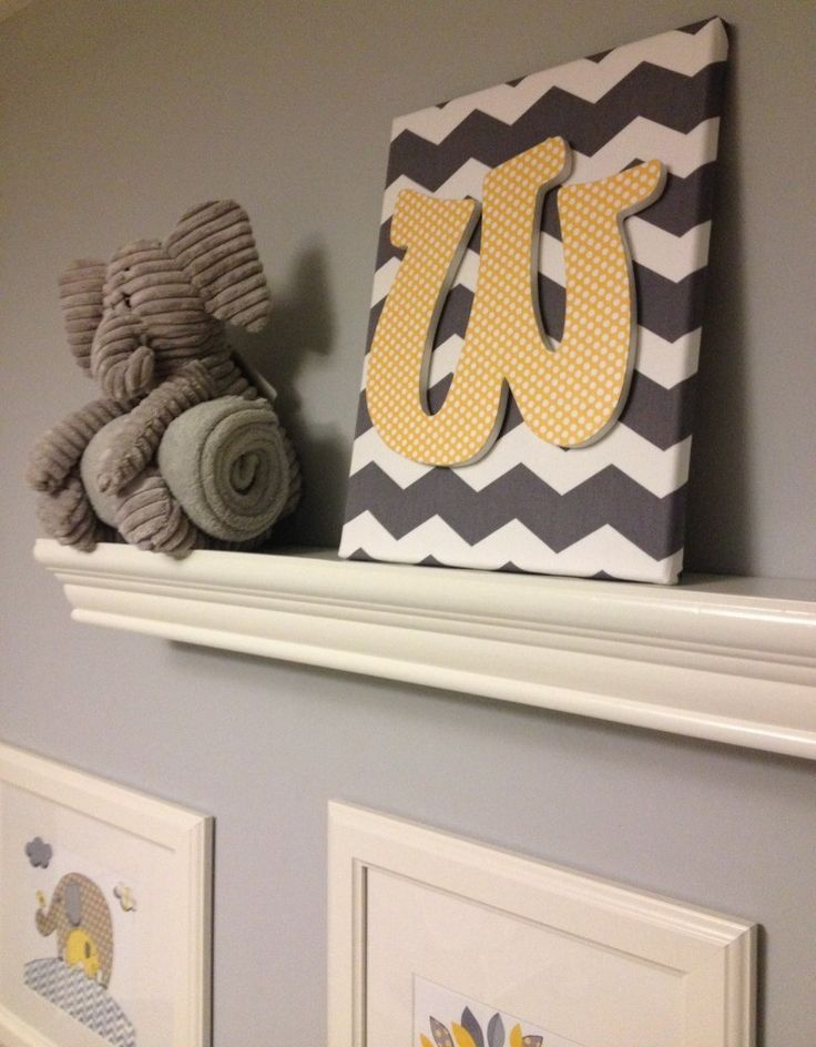DIY Nursery Art - #grayandyellowDiy Nurseries, Nursery Art, Baby Nurseries Artworks, Baby Boys, Projects Nurseries, Baby'S Nurseries Artworks, Nurseries Ideas, Shower Gift, Baby Shower