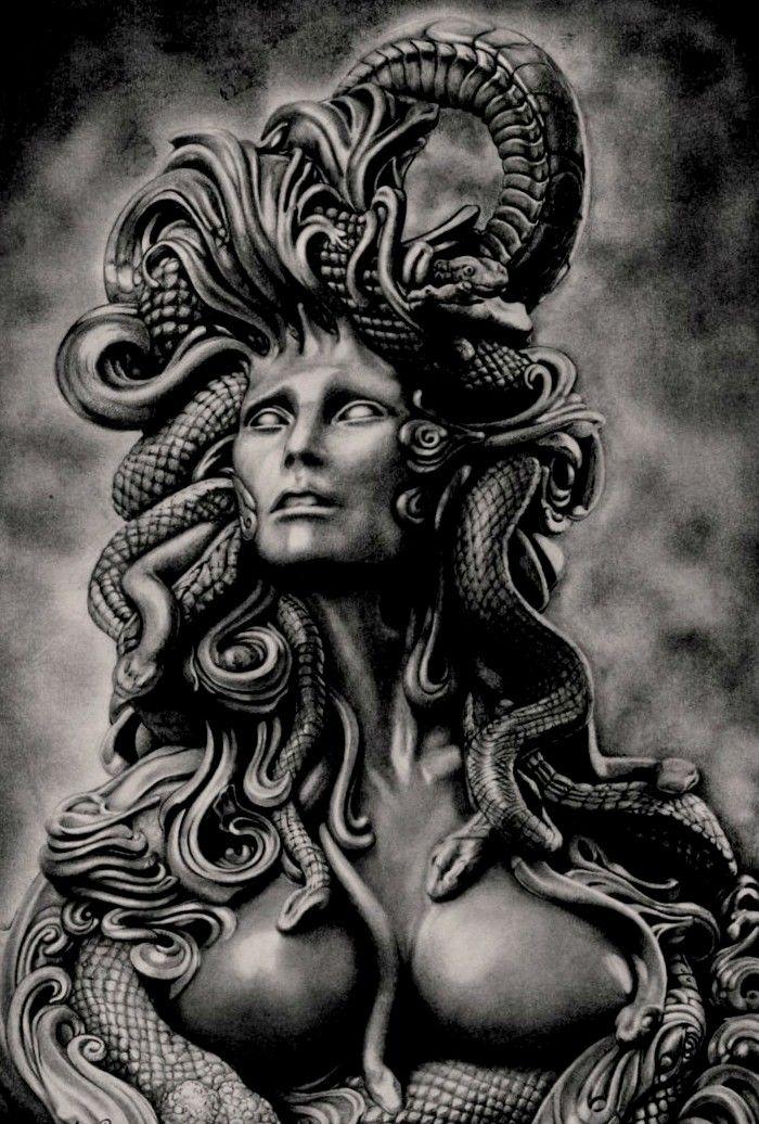 Pin Di W M Su Medusa The Gorgon Tatuaggio Greco Tatuaggi Mitologia Creature Mitologiche