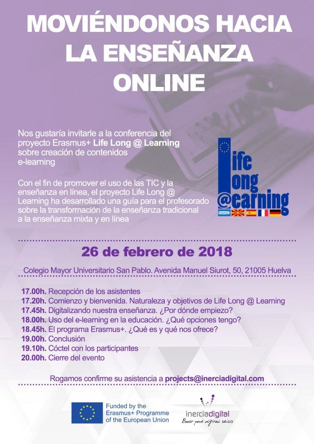 Evento de difusión del proyecto LifeLong@Learning // Event to disseminate the LifeLong@Learning Project